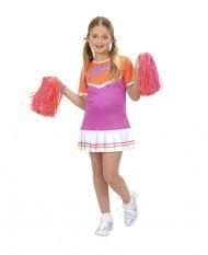 Lila Pompom-Girl-Kostüm für Mädchen