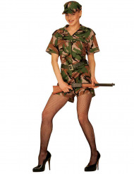 Heißes Soldatinnen-Kostüm für Damen