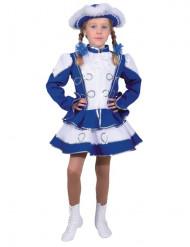 Blaues Funkenmariechen Kostüm für Mädchen