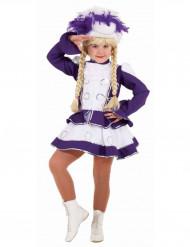 Lila Funkenmariechen Kostüm für Mädchen