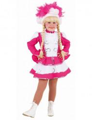 Pinkes Funkenmariechen Kostüm für Mädchen
