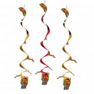 3 Hänge-Dekorationen - Drachen