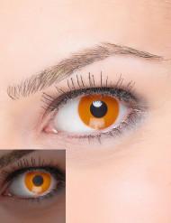 Orangefarbene Kontaktlinsen