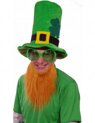 Grüner Hut mit rotem Bart zum Saint Patrick's Day