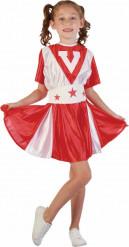 Rotes Pompom-Girl-Kostüm für Mädchen