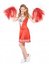 Rotes Pompom-Girl-Kostüm für Damen