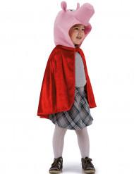 Süßes Schweinchen-Kostüm Kinderumhang rosa-rot
