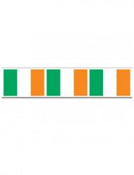 Kunststoff-Girlande Irland weiss-grün-orangenfarben 6m