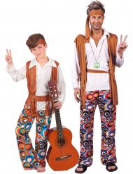 Hippie-Paarkostüm für Vater und Sohn