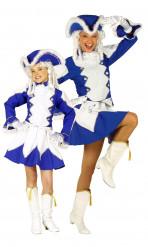 Blaues Funkenmarie-Paarkostüm für Mutter und Tochter