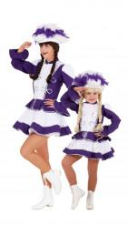 Lila Tanzmarie-Paarkostüm für Mutter und Tochter