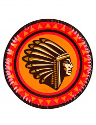 6 Teller - Indianer
