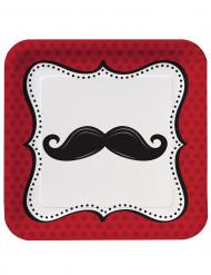 8 Teller  - Schnurrbart