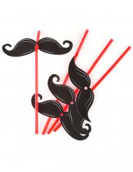 6 Strohhalme Schnurrbart