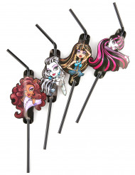8 Monster High™ Strohhalme