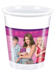 8 Violetta™ Becher 200 ml weiß pink