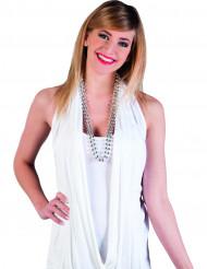 2 silberne Perlen Ketten für Damen
