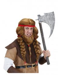 Wikinger Bart und Perücke für Erwachsene