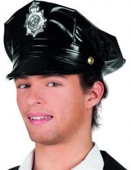 Schwarze Polizei-Kappe für Erwachsene