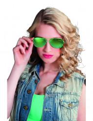 Grüne Polizei-Brille für Erwachsene