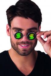Runde Dollar-Brille für Erwachsene