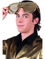 Riesenbrille gold für Erwachsene