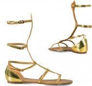 Goldene Sandalen für Frauen