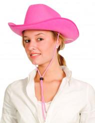 Cowgirlhut für Damen rosa