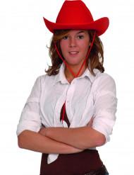 Cowboy-Filzhut für Erwachsene rot