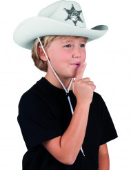 Weißer Sheriff-Hut für Kinder