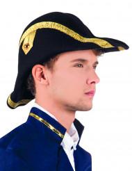 Schwarzer Zweispitz-Hut für Erwachsene