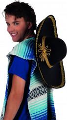 Schwarz-goldener Sombrero für Erwachsene