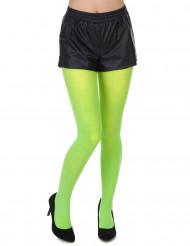 Neongrüne Strumpfhose für Erwachsene