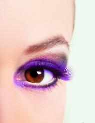 Falsche Wimpern violett