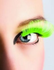 Falsche Wimpern Neongrün für Erwachsene