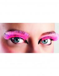 Falsche Wimpern pink für Erwachsene