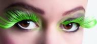 Grün-schwarze Wimpern XL
