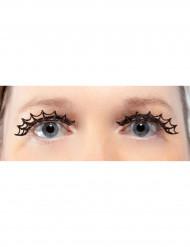 Lange schwarze Spinnennetz-Wimpern für Erwachsene