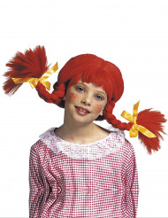 Perücke rote Zöpfe für Mädchen