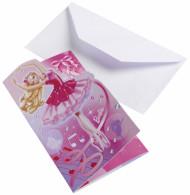 6 Einladungskarten mit Umschlag Barbie™