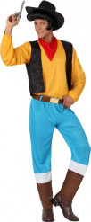 Gelbes Cowboy Kostüm für Herren
