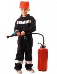 Feuerwehrmann-Kinderkostüm für Jungen schwarz-silber