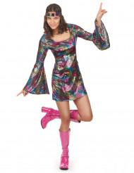 70er-Jahre Disco-Outfit für Damen bunt