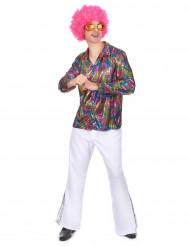 Disco-Hemd Kostüm für Herren