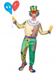 Zirkus-Clown Kostüm für Herren bunt
