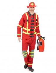 Feuerwehrmann-Kostüm für Herren Beruf und Uniform rot