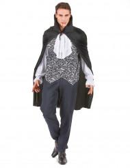 Vampir-Kostüm mit Barockmuster für Herren schwarz-weiß
