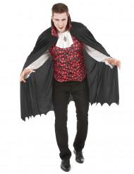 Vampirkostüm mit Totenkopfmuster für Herren schwasrz-weiß-rot