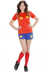 Spanien Fußball-Kostüm für Damen