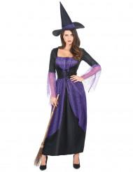 Hexenkostüm lila für Damen